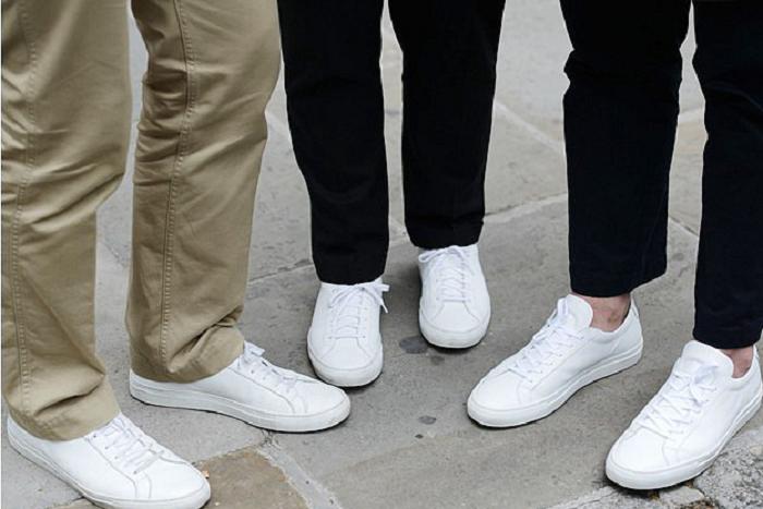 không mang chung giày dép