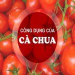 công dụng cà chua