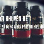 Tác dụng của whey protein